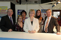 NO FEE PICTURES.28/1/11 Minister Mary Hanafin at the ITA stand at the launch of the Holiday World Show at the RDS, Dublin, which runs from Friday 28th untill Sunday 30th January. Picture: Arthur Carron/Collins