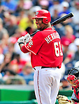 26 September 2010: Washington Nationals pitcher Livan Hernandez stands at bat against the Atlanta Braves at Nationals Park in Washington, DC. The Nationals defeated the pennant-seeking Braves 4-2 to take the rubber match of their 3-game series. Mandatory Credit: Ed Wolfstein Photo