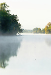 Fog on the Gilbert river, Sauvie Island, Oregon