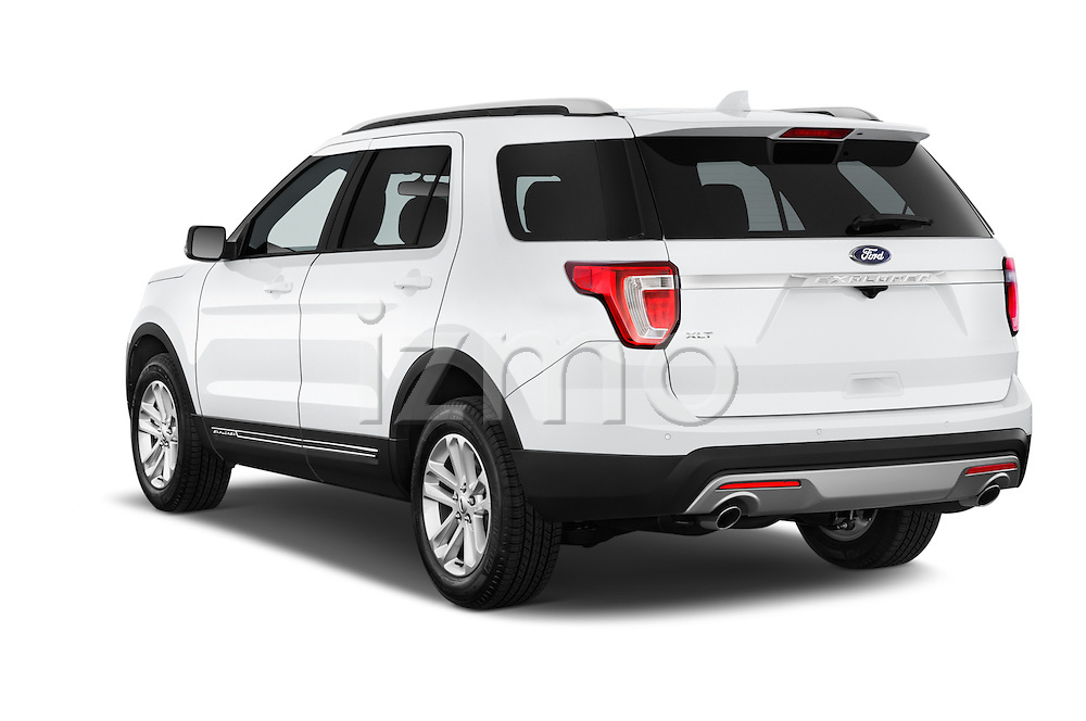 Car pictures of rear three quarter view of a 2016 Ford Explorer XLT 4 Door SUV Angular Rear