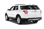 Car pictures of rear three quarter view of a 2017 Ford Explorer XLT 4 Door SUV Angular Rear