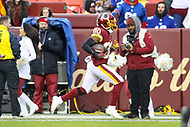 Landover, MD - December 9, 2018: Washington Redskins wide receiver Jamison Crowder (80) runs for a touchdown during the  game between New York Giants and Washington Redskins at FedEx Field in Landover, MD.   (Photo by Elliott Brown/Media Images International)