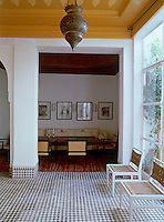 The sitting room is situated in a cosy alcove off the main terrace