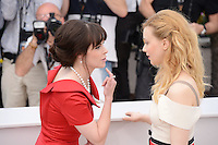 """Emily Hampshire and Sarah Gadon attending the """"Cosmopolis"""" Photocall during the 65th Annual Cannes International Film Festival in Cannes, France, 25.05.2012...Credit: Timm/face to face /MediaPunch Inc. ***FOR USA ONLY***"""