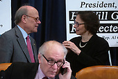 Constitutional law expert Pamela Karlan, of Stanford University speaks to United States Representative Steve Cohen (Democrat of Tennessee) prior to testifying before the United States House Committee on the Judiciary on Capitol Hill in Washington D.C., U.S. on Wednesday, December 4, 2019.<br /> <br /> Credit: Stefani Reynolds / CNP