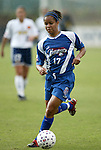 24 May 2003: Danielle Slaton plays through the rain. The San Diego Spirit defeated the Carolina Courage 2-1 at SAS Stadium in Cary, NC in a regular season WUSA game.