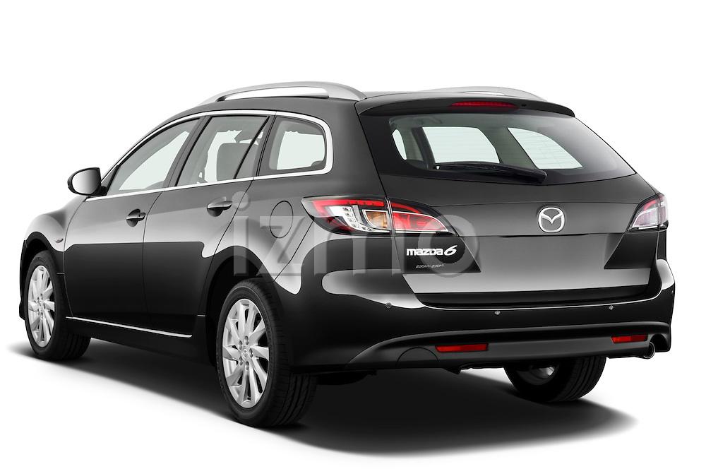 Rear three quarter view of a 2011 Mazda 6 Active Wagon