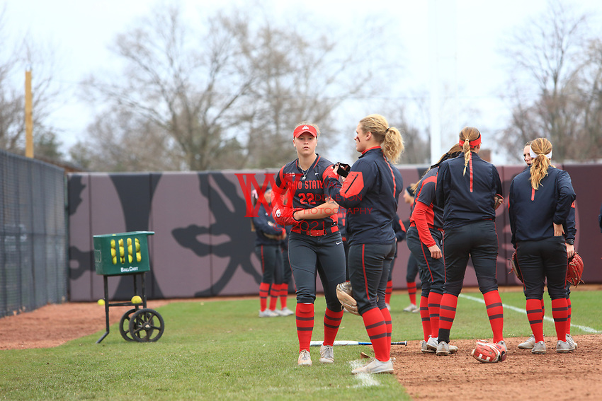 The Ohio State University Softball team defeated Rutgers by the run rule in the 5th inning with a score of 8-0. April 1, 2017<br /> (Photo by: Walt Middleton Photography 2017)