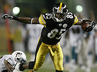 07 September 2006: Pittsburgh Steelers' Nate Washington plays against the Miami Dolphins at Heinz Field in Pittsburgh, Pennsylvania.<br />
