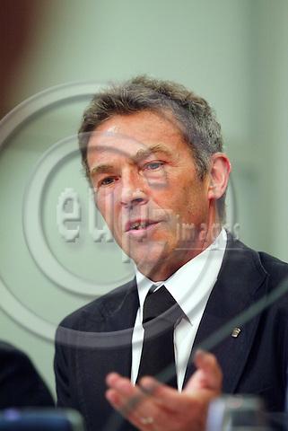 BRUSSELS - BELGIUM - 03 MAY 2006 -- Jörg (Joerg, Jorg) HAIDER, Governor of Carinthia in Austria. PHOTO: ERIK LUNTANG / EUP-IMAGES