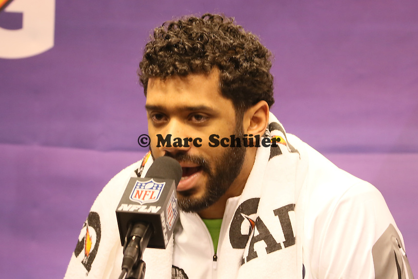 QB Russell WIlson (Seattle)  - Super Bowl XLIX Media Day, US Airways Center, Phoenix