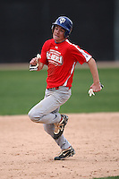 January 17, 2010:  Casey Flannery (Canyon Lake, CA) of the Baseball Factory Pacific Team during the 2010 Under Armour Pre-Season All-America Tournament at Kino Sports Complex in Tucson, AZ.  Photo By Mike Janes/Four Seam Images