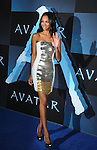 """HOLLYWOOD, CA. - December 16: Zoe Saldana attends the Los Angeles premiere of """"Avatar"""" at Grauman's Chinese Theatre on December 16, 2009 in Hollywood, California."""