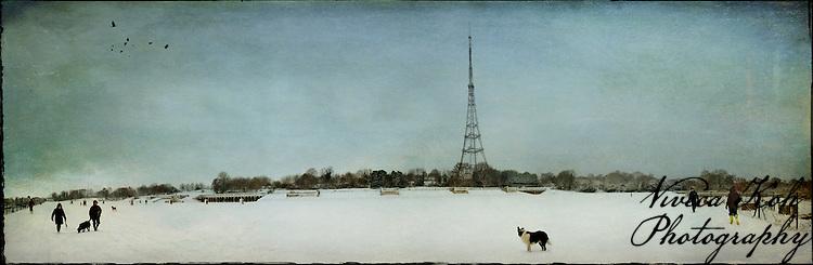 Panorama of Crystal Palace Park, London.