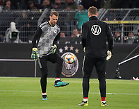 Torwart Manuel Neuer (Deutschland Germany), Torwart Bernd Leno (Deutschland Germany) - 09.10.2019: Deutschland vs. Argentinien, Signal Iduna Park, Freunschaftsspiel<br /> DISCLAIMER: DFB regulations prohibit any use of photographs as image sequences and/or quasi-video.
