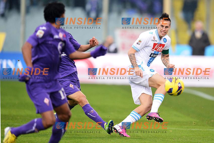 Marek Hamsik Napoli (R).Firenze 20/1/2013 Stadio Artemio Franchi.Football Calcio 2012/2013 Serie A.Fiorentina Vs Napoli.Foto Andrea Staccioli Insidefoto