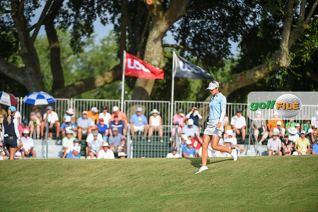 Azahara Munoz (ESP) heads for the trap for her second shot on 11 during round 2 of the 2019 US Women's Open, Charleston Country Club, Charleston, South Carolina,  USA. 5/31/2019.<br /> Picture: Golffile | Ken Murray<br /> <br /> All photo usage must carry mandatory copyright credit (© Golffile | Ken Murray)