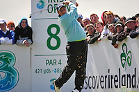 Shane Lowry tees off on the 8th hole during the Final Round of the 3 Irish Open on 17th May 2009 (Photo by Eoin Clarke/GOLFFILE)