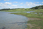 Marsh shore of River Deben, Methersgate, Suffolk, England