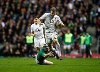 Photo: Richard Lane/Richard Lane Photography. England v Ireland. 17/03/2012. England's Tom Croft breaks past Ireland's Rory Best.