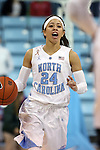 02 January 2014: North Carolina's Jessica Washington. The University of North Carolina Tar Heels played the James Madison University Dukes in an NCAA Division I women's basketball game at Carmichael Arena in Chapel Hill, North Carolina.