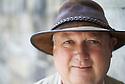 Louis De Bernieres , novelist and writer at Oxford Literary Festival  at Christchurch College, Oxford  2014 CREDIT Geraint Lewis