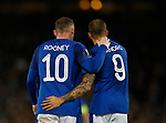 Wayne Rooney of Everton and Sandro Ramirez of Everton during the Europa League Group E match at Goodison Park Stadium, Liverpool. Picture date: September 28th 2017. Picture credit should read: Simon Bellis/Sportimage