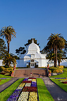 Conservatory of Flowers, victorian greenhouse in golden gate park, San Francisco, California
