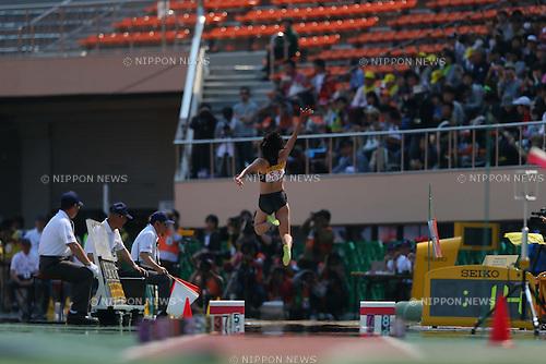 Sachiko Mashumi (JPN), MAY 5, 2013 - Athletics : SEIKO Golden Grand Prix in Tokyo, Women's Long Jump at National Stadium, Tokyo, Japan. (Photo by AFLO SPORT)