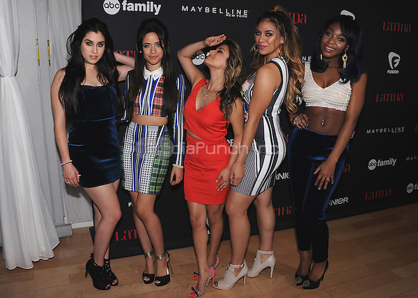 "WEST HOLLYWOOD, CA - NOVEMBER 13:  Fifth Harmony at the Latina Magazine ""30 Under 30"" Party at Skybar at The Mondrian on November 13, 2014 in West Hollywood, California. Credit: PGSK/MediaPunch"