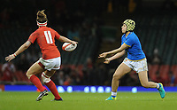 Italy&rsquo;s Beatrice Rigoni in action during todays match<br /> <br /> Photographer Ian Cook/CameraSport<br /> <br /> 2018 Women's Six Nations Championships Round 4 - Wales Women v Italy Women - Sunday 11th March 2018 - Principality Stadium - Cardiff<br /> <br /> World Copyright &copy; 2018 CameraSport. All rights reserved. 43 Linden Ave. Countesthorpe. Leicester. England. LE8 5PG - Tel: +44 (0) 116 277 4147 - admin@camerasport.com - www.camerasport.com