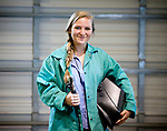 Rachel Bayles, in Oxford, Miss. on Wednesday, April 4, 2012, is a welding student at the Oxford-Lafayette School of Applied Technology.