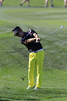 Kevin Na (USA) plays his 2nd shot on the 9th hole during Saturday's Round 3 of the Waste Management Phoenix Open 2018 held on the TPC Scottsdale Stadium Course, Scottsdale, Arizona, USA. 3rd February 2018.<br /> Picture: Eoin Clarke | Golffile<br /> <br /> <br /> All photos usage must carry mandatory copyright credit (&copy; Golffile | Eoin Clarke)