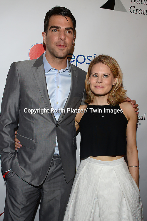 Zachary Levi and Celia Keenan-Bolger attends the 80th Annual Drama League Awards Ceremony and Luncheon on May 16, 2014 at the Marriot Marquis Hotel in New York City, New York, USA.
