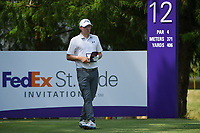 Matt Fitzpatrick (ENG) looks over his tee shot on 12 during round 4 of the WGC FedEx St. Jude Invitational, TPC Southwind, Memphis, Tennessee, USA. 7/28/2019.<br /> Picture Ken Murray / Golffile.ie<br /> <br /> All photo usage must carry mandatory copyright credit (© Golffile | Ken Murray)