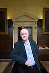 Iain Sinclair in the Convocation House at the Bodleian Library during the Sunday Times Oxford Literary Festival, UK, 16 - 24 March 2013.<br />