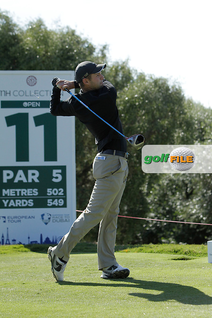 Dodge Kemmer (USA) during Round 2 of the NH Collection Open at the La Reserva de Sotogrande Club de Golf in Cadiz Spain on Friday 4th April 2014<br /> Picture:  Thos Caffrey / www.golffile.ie