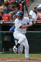 Buffalo Bisons outfielder Kirk Nieuwenhuis #21 during a game against the Syracuse Chiefs at Dunn Tire Park on April 7, 2011 in Buffalo, New York.  Syracuse defeated Buffalo 8-5.  Photo By Mike Janes/Four Seam Images