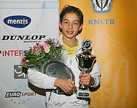 01-12-13,Netherlands, Almere,  National Tennis Center, Tennis, Winter Youth Circuit, Boys 16 years ,winner :  Amadatus Admiraal<br /> Photo: Henk Koster