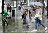 2016 09 13 Rainy weather, Oxford Street, Swansea, UK