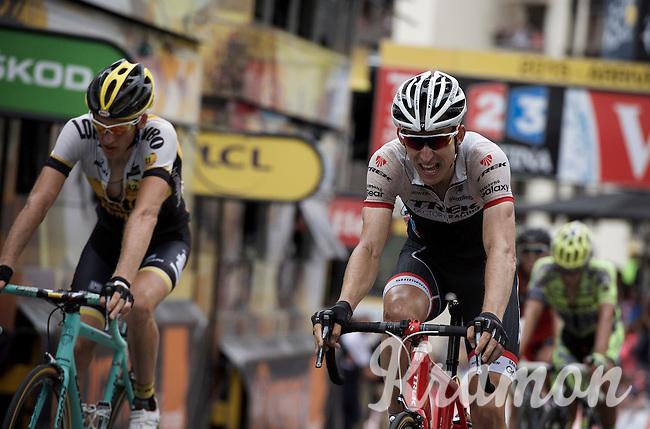 Bauke Mollema (NLD/Trek Factory Racing) rolls in 7th <br /> <br /> stage 19: St-Jean-de-Maurienne - La Toussuire / Les Sybelles   (138km)<br /> Tour de France 2015