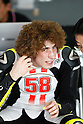 February 4, 2010 - Kuala Lampur, Malaysia - Italian rider Marco Simoncelli (San Carlo Honda Gresini) takes a break in his box during MotoGP testing on Sepang International Circuit on February 4, 2010. (Photo Andrew Northcott/Nippon News)