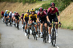 Team Ineos take control of the pace on the front of the peloton on the final climb during Stage 2 of Criterium du Dauphine 2020, running 135km from Vienne to Col de Porte, France. 13th August 2020.<br /> Picture: ASO/Alex Broadway | Cyclefile<br /> All photos usage must carry mandatory copyright credit (© Cyclefile | ASO/Alex Broadway)