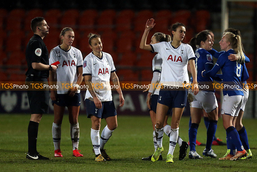 Rosella Ayane of Tottenham Hotspur women  is sent off during Tottenham Hotspur Women vs Everton Women, Barclays FA Women's Super League Football at the Hive Stadium on 12th February 2020