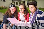 Rebecca Cains, Tralee, Clodagh O'Sullivan, Tralee and Niamh Scott Students from Presentation Secondary school Tralee pictured after sitting English paper one on Wednesday.