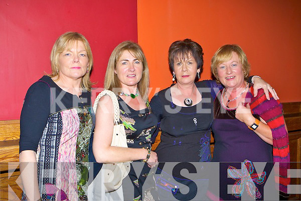 Patricia O'Leary, Mary Lyons, Dympa O'Connor and Maire Kearney at the Crystal Swing concert in the River Island Hotel Castleisland on Friday night