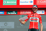 Sander Armee (BEL) Lotto-Soudal wins the day's combativity award at the end of Stage 15 of the 2017 La Vuelta, running 129.4km from Alcal&aacute; la Real to Sierra Nevada. Alto Hoya de la Mora. Monachil, Spain. 3rd September 2017.<br /> Picture: Unipublic/&copy;photogomezsport | Cyclefile<br /> <br /> <br /> All photos usage must carry mandatory copyright credit (&copy; Cyclefile | Unipublic/&copy;photogomezsport)
