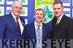 John Horan (GAA President), Peter Keane and Tim Murphy (Kerry GAA Chairman) at the Kerry GAA awards night in the Ballygarry House Hotel on Saturday night.