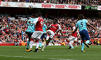 Arsenal's Danny Welbeck scores his side's first goal  <br /> <br /> Photographer Rob Newell/CameraSport<br /> <br /> The Premier League - Arsenal v AFC Bournemouth - Saturday 9th September 2017 - The Emirates - London<br /> <br /> World Copyright &copy; 2017 CameraSport. All rights reserved. 43 Linden Ave. Countesthorpe. Leicester. England. LE8 5PG - Tel: +44 (0) 116 277 4147 - admin@camerasport.com - www.camerasport.com
