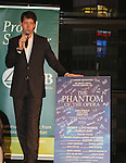 "James Barbour star of Broadway's Phantom of the Opera is awarded the Shining Star Award and holds a Phantom cast signed poster up for auction - The 29th Annual Jane Elissa Extravaganza which benefits The Jane Elissa Charitable Fund for Leukemia & Lymphoma Cancer, Broadway Cares and other charities on November 14, 2016 at the New York Marriott Hotel, New York City presented by Bridgehampton National Bank and Walgreens.  The event is a Cabaret with Broadway singer - James Barbor ""Phanom"" in The Phantom of the Opera"" (Photo by Sue Coflin/Max Photos)"